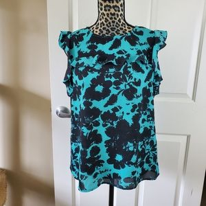 Worthington Turquoise Floral Top